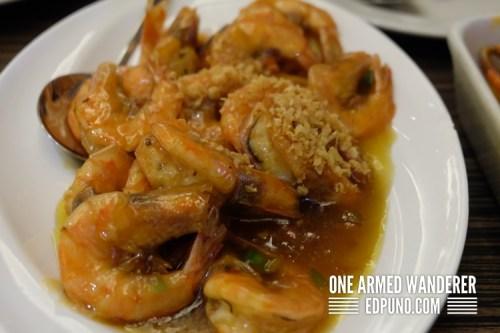 buttered shrimps