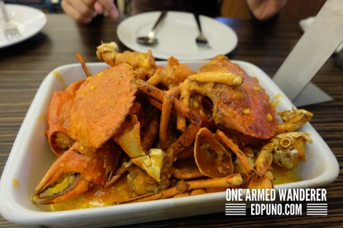 Crabs in salted egg sauce