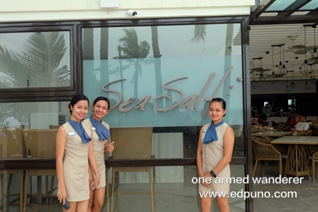 Some of the staff of Sea Salt Cafe, Henann Prime