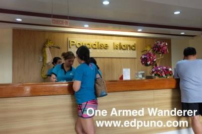 Paradise Island Reception