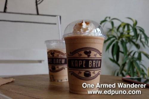 Kape Brew's milk tea and frap