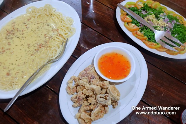 Carbonara, Calamarers and Paco Salad