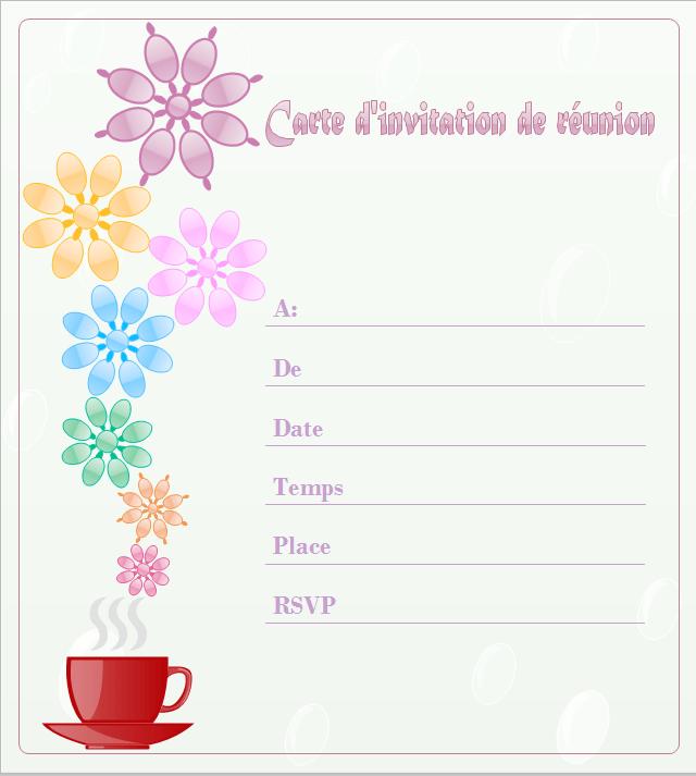 exemples et modeles de carte d invitation