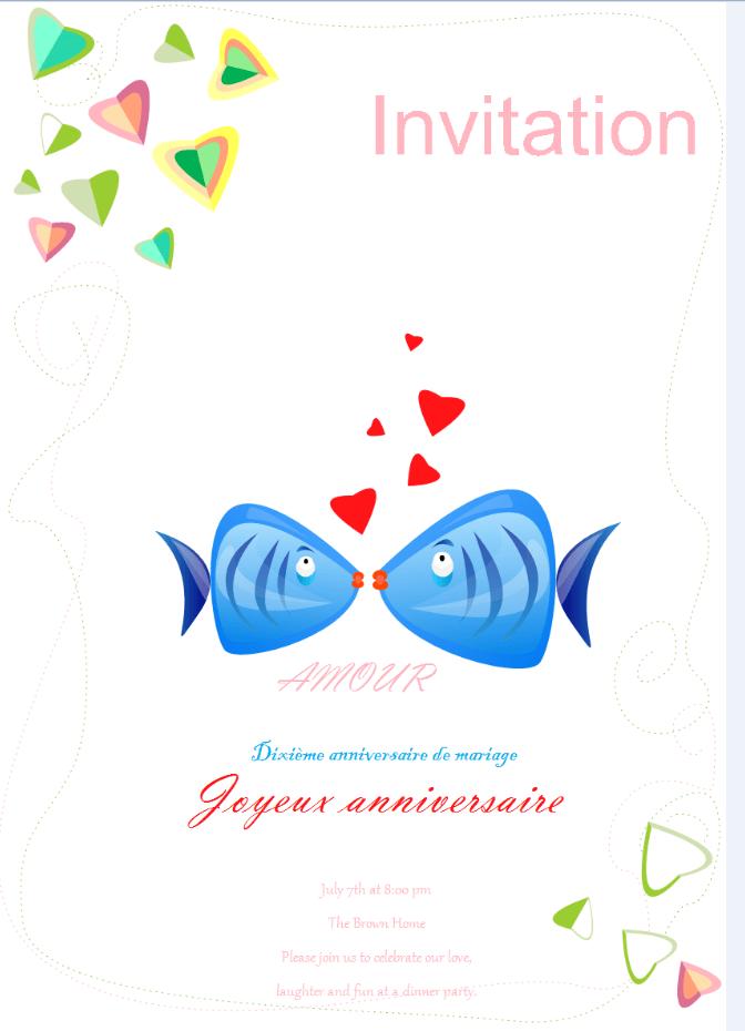 logiciel creation de carte d invitation