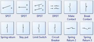 Standard Circuit Symbols For Circuit Schematic Diagrams