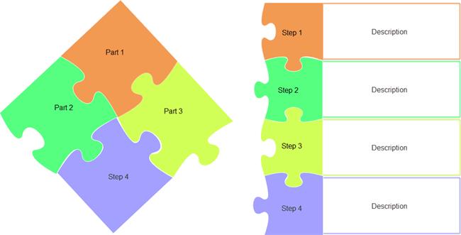 Puzzle Diagram Templates