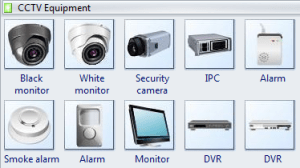 Security Symbols  Standard CCTV Symbols For video surveillance, sign security cameras