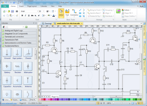 Free electronic circuit diagramschematic drawing software