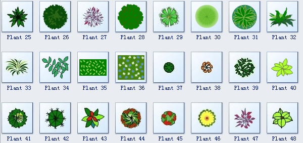 Printable Landscape Design Symbols
