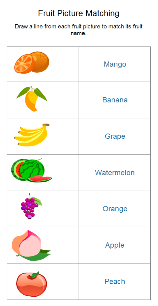 Fruit Worksheet Examples And Templates