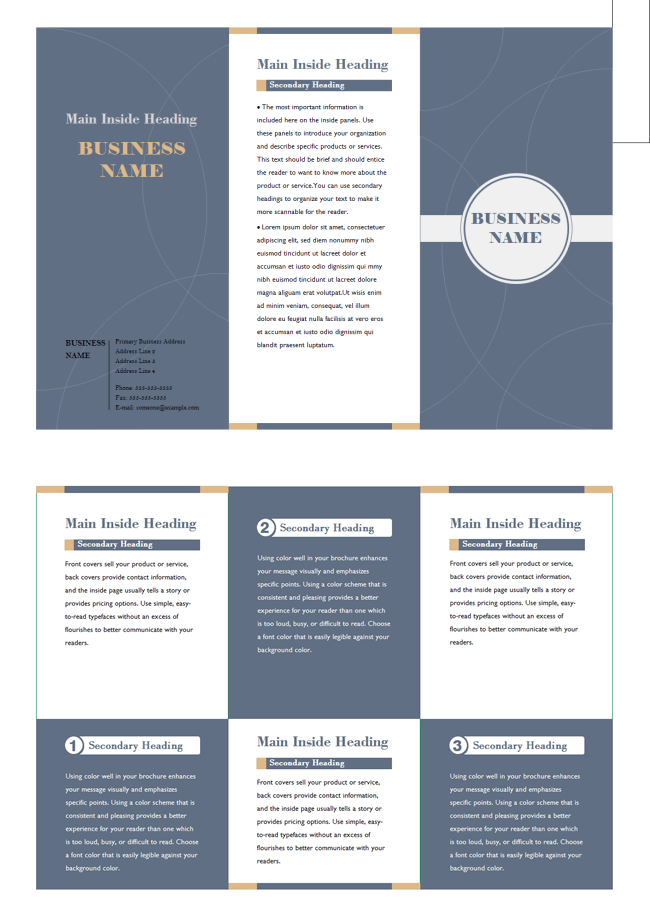 Doc700434 Business Pamphlet Templates Corporate Business – Business Pamphlet Templates