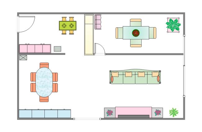 Floor Plan Living Room Symbols
