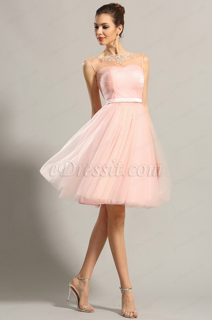 f84e900cfb Cute Sleeveless Pink Cocktail Dresses