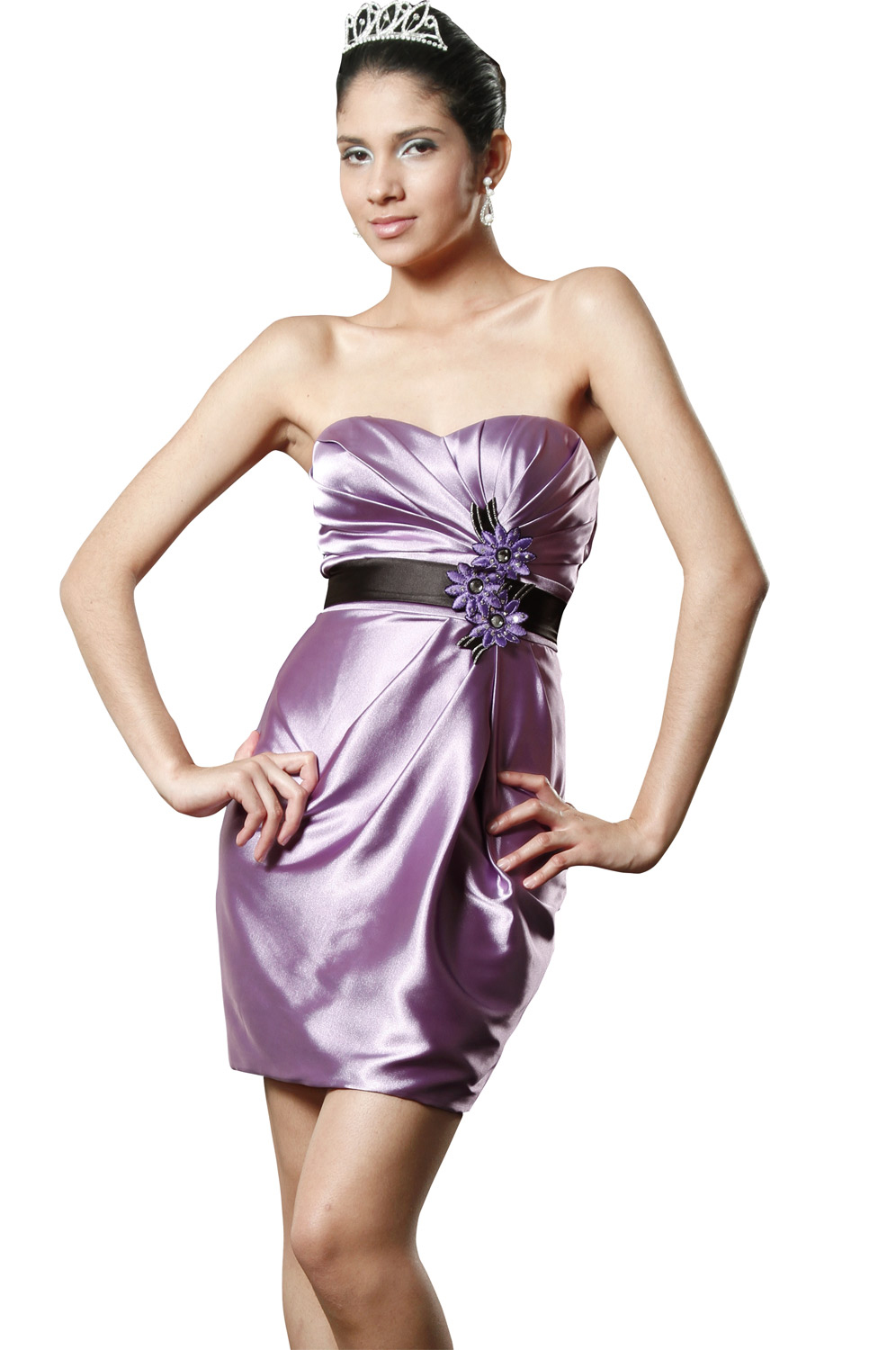 eDressit Elegant Strapless Cocktail Dress