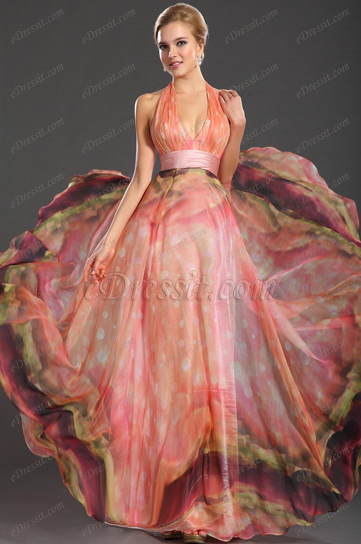 halter printed dresses