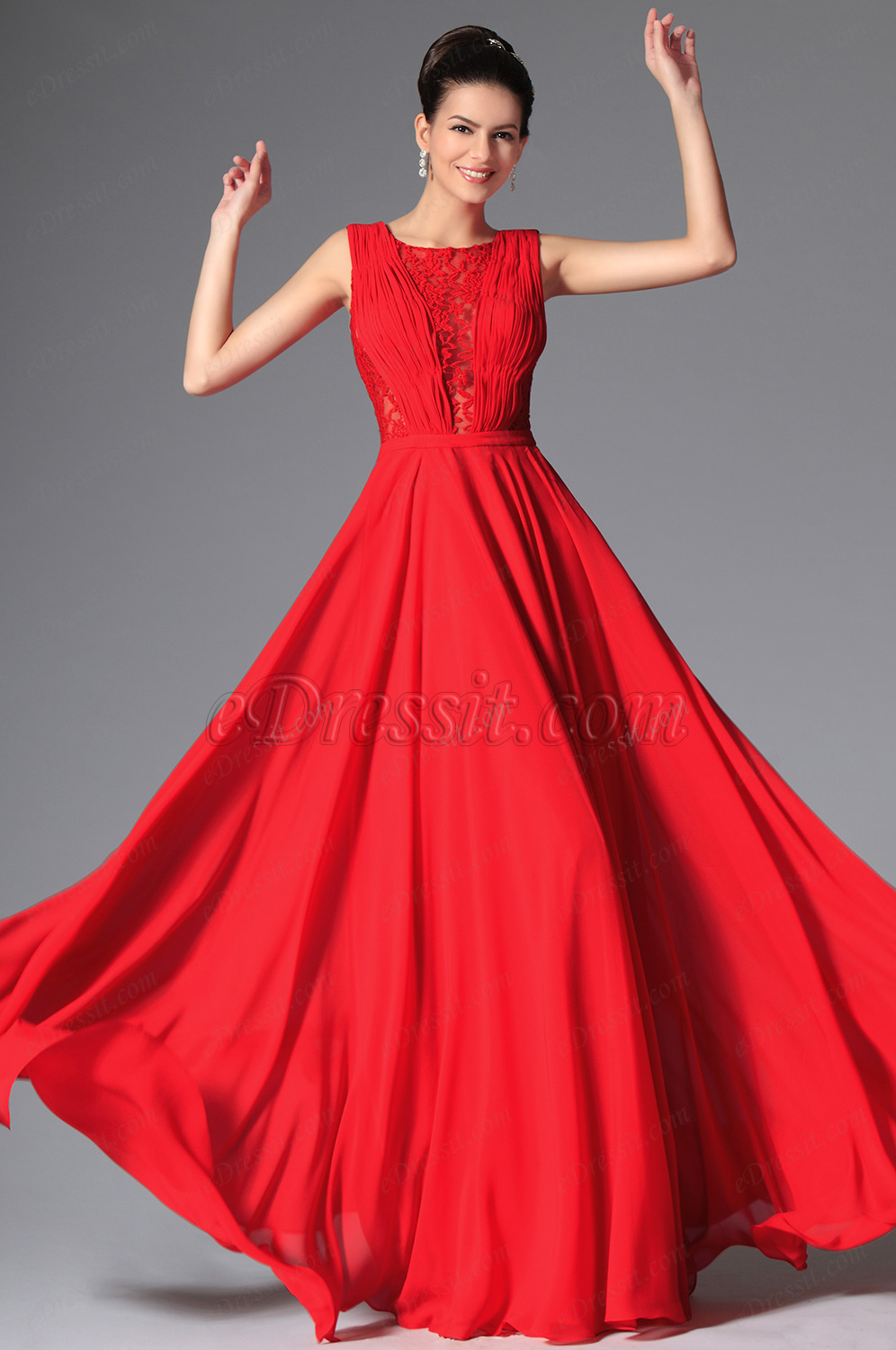 sleeveless evening dress for woman