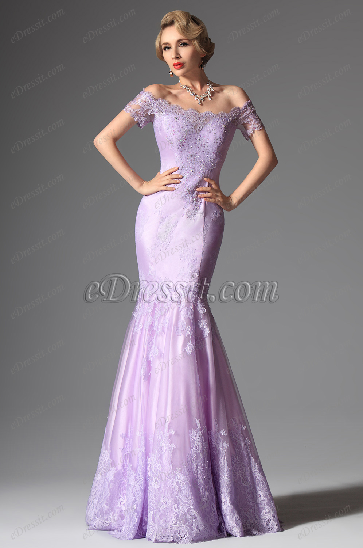 off shoulder evening dresses cheap