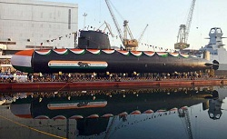 Submarine 'Khanderi' Launched