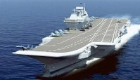 INS Vikramaditya fires surface-to-air missile