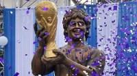 'God of football' Diego Maradona unveils statue in Kolkata
