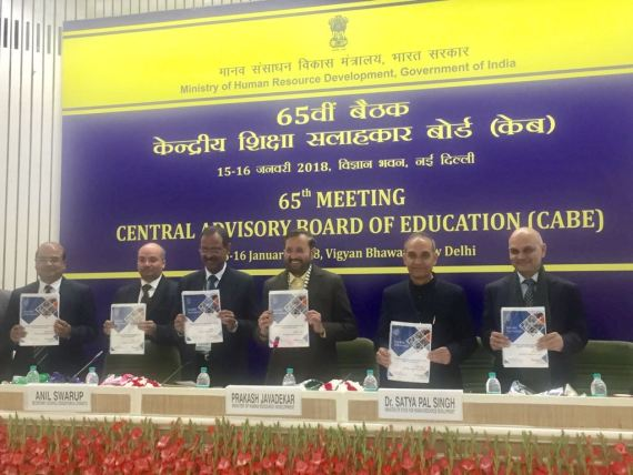 Union Human Resource Development Minister Shri Prakash Javadekar chairs the 65th Central Advisory Board of Education (CABE)