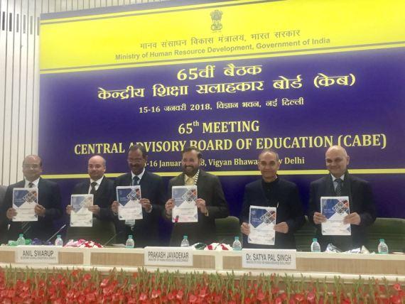 Union Human Resource Development Minister Shri Prakash Javadekar chairs the 65th Central Advisory Board of Education (CABE)