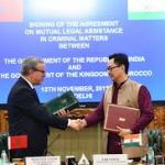 India and Morocco sign Agreement on Mutual Legal Assistance in Criminal Matters