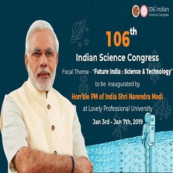 106th Indian Science Congress.