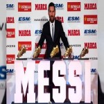 Lionel Messi grabs record fifth Golden Shoe award