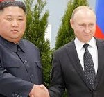 Kim Jong Un and Vladimir Putin vow closer ties as they meet for the first time