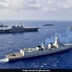 Group sail of Indian Navy Ships with naval ships of US