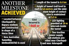 Longest electrified railway tunnel in India