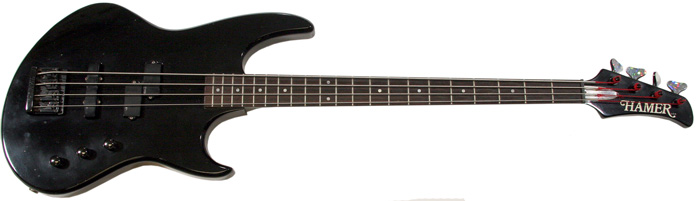 sold hamer double cut bass guitar sold