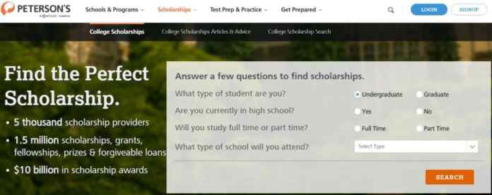 best_scholarship_websites_petersons