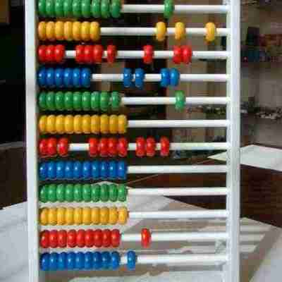 Upright abacus