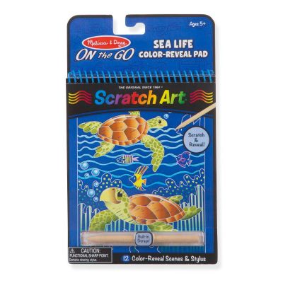 Sealife Colour-Reveal Scratch Art Pad