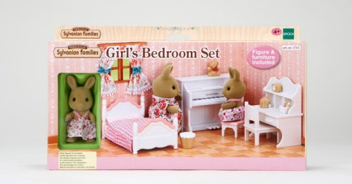 Girl's Bed Room Set with Rabbit Sister
