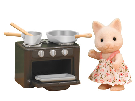 Cat Sister with Oven Set