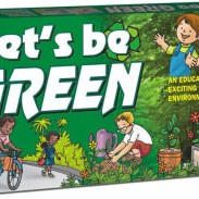 """""""Let's Be Green"""" is an exciting board game designed to make children environmentally aware and socially responsible. The game includes, a colourful 'Game Board', four 'Recycling Bin-boards' and 52 Play Cards."""