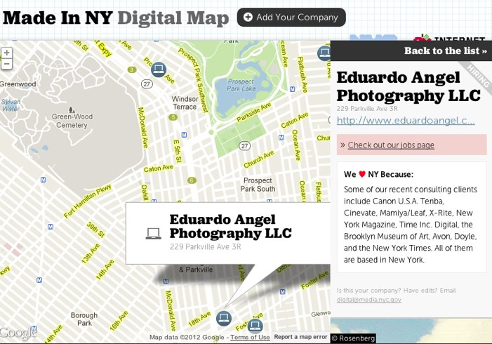 Digital Map Nyc on