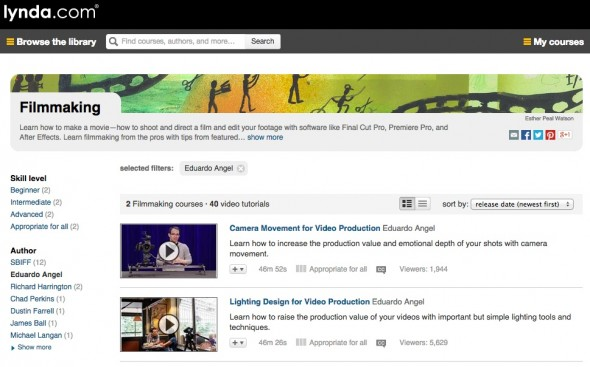 Learn Filmmaking with Video Courses and Tutorials from lynda.com