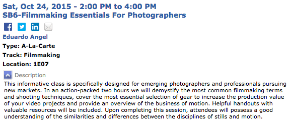 Conference Seminars | PhotoPlus Expo