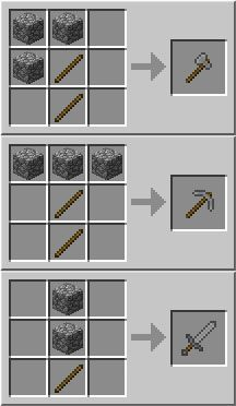 Minecraft weapons craft