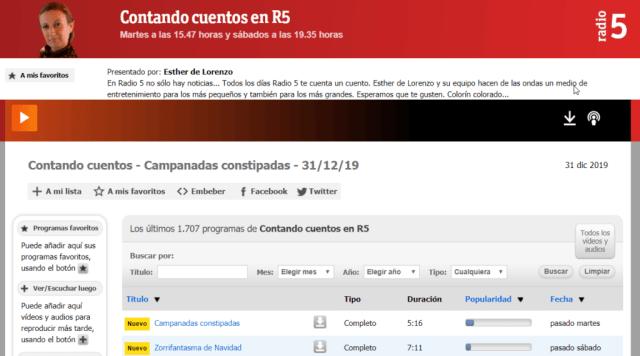 Contando cuentos en R5 - RTVE.es