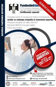 Certificación Especial Auxiliar en Radiología Ortopédica y Tratamiento Deportivo (28 semanas) @ Panteones Terapéuticas