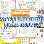 5 packs imprimibles para Pascua