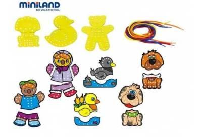 Juego-de-hilar-de-9-piezas-(oso,-pato-y-perro)-educadiver