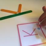 Día 2: Letras con palos de polo