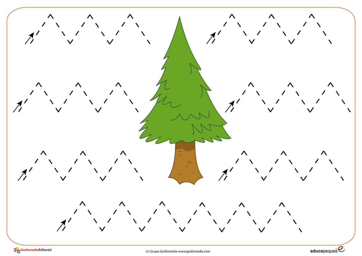 Fichas De Grafomotricidad Trazos Verticales Y Horizontales