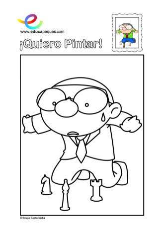 colorear_nino-ajedrez